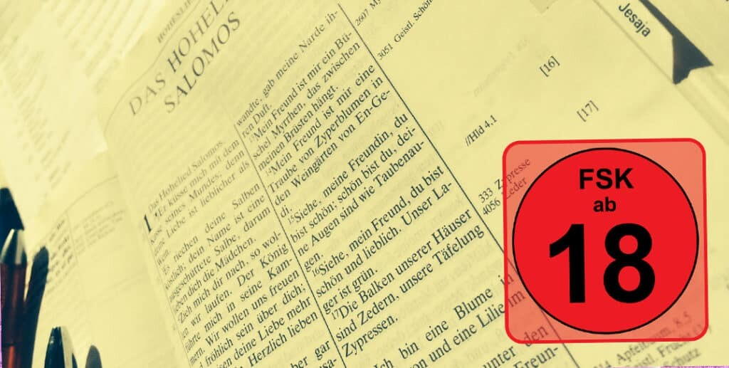 Wusstest Du, dass das Hohelied im Judentum nur von Erwachsenen gelesen werden durfte? Zu'eindeutig' war die Sprache - nix für Kinderohren...