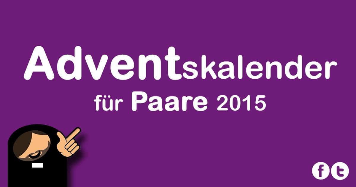 Adventskalender für Paare 2015